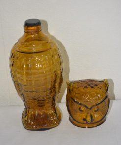 Madamvintage - Glazen fles uil