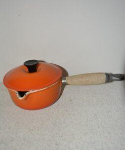 Madamvintage -emaille oranje pan
