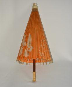Madamvintage - papieren paraplu oranje