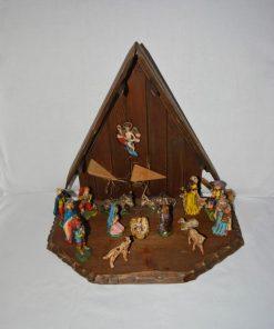 Madamvintage - kerststal met beeldjes