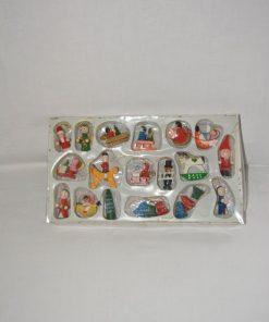 Madamvintage - houten kerstpopjes/hangers