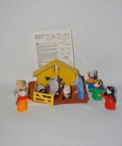Madamvintage - papieren kinder kerststal