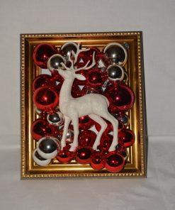 Madamvintage - kerst schilderij rendier