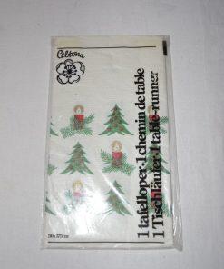 Madamvintage - papieren kerst tafelloper