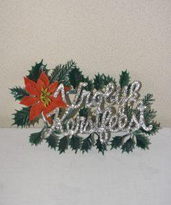 Madamvintage - kunsstof schildje vrolijk kerstfeest