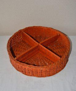 Madamvintage - rotan oranje mandje