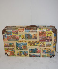 Madamvintage - koffer bekleed met stripfiguren