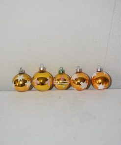 Madamvintage - gouden kerstballen