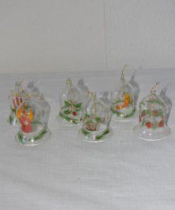 Madamvintage - glazen kerstboomklokjes