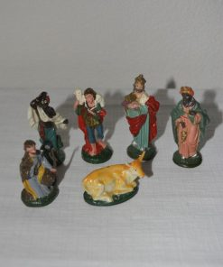 Madamvintage - Kerststal figuurtjes voor kleine boom