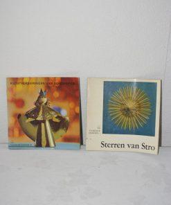 Madamvintage - Boekjes Sterren van stro/kerstversieringen van goud