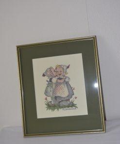 Madamvintage - Schilderij Hummel geborduurd