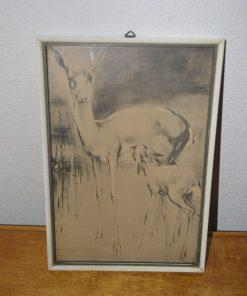 Madamvintage - Schilderij hert van H van Meegeren
