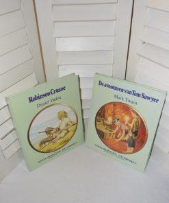 Madamvintage - Boeken avonturen van Tom Sawyer/Robinsonade Crusoe